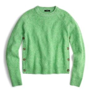 J.Crew Brushed lambswool sweater with buttons